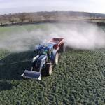 spreading agricultural lime